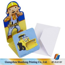 Different Shapes Cheap Birthday Greeting Cards Wholesale Invitation For Kids