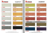 Eco-friendly material metallic paint with special decorative effect