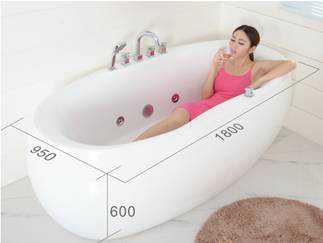 2017 CE ROSH Cheap Small Mini Freestanding Acrylic Whirlpool Massage Portable Bathtub
