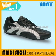 Newest Wholesale China Stylish Black Casual Shoe with Durable Outsole for Men