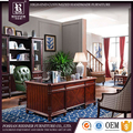 European Neo classical wooden furniture office furniture set / luxury wooden office desk /chair/bookcase/cabinet