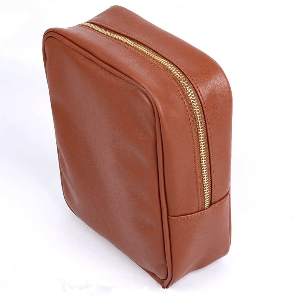 Fashion PU Leather Cosmetic Bag Leather Toiletry Bag for <strong>Travel</strong>