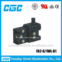 CGC Power Tool Switch FA2-6 / 1WL-B1 CE ISO9001 electric cord switch