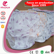 Disposable Printed Briefs Ladies' Panties Disposable Hospital Knickers Disposable PP Nonwoven Printed Panties