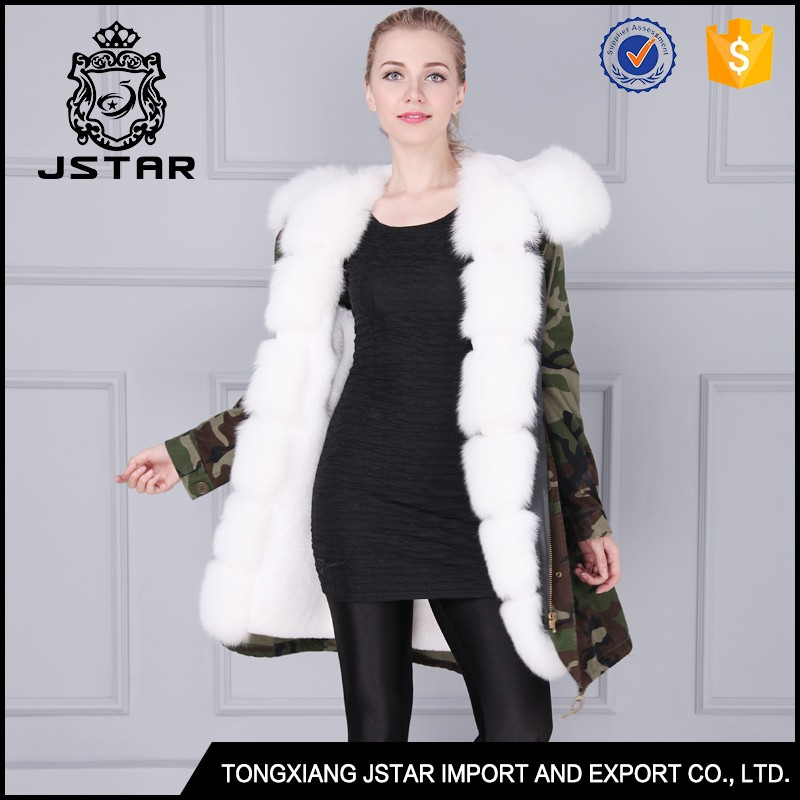 Brand design JSTAR chinchilla fur coats wholesale real fur hooded winter coat
