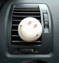 Round Smile Face Perfumed Ceramic Car Vent Clips Air Freshener