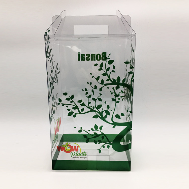 Factory price transparent clear plastic folding box acetate PVC PET box