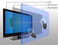 WiVi projected capacitive touch, NANO conductive wire foil film, 70inch interactive multi touch film