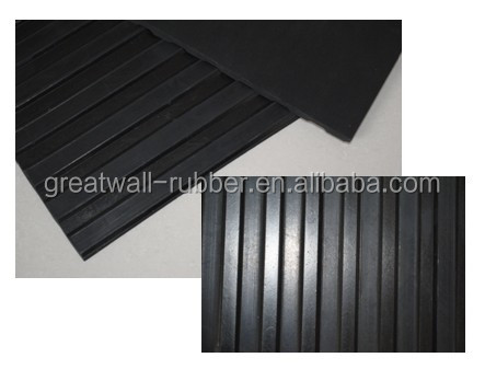 2M Width Multiple Usage Product Wide Ribbed Rubber Flooring Working As Anti-Slip and Animal Mattress