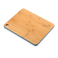 2018 Popular pizza cheese bamboo chopping cutting board block with painted color edges