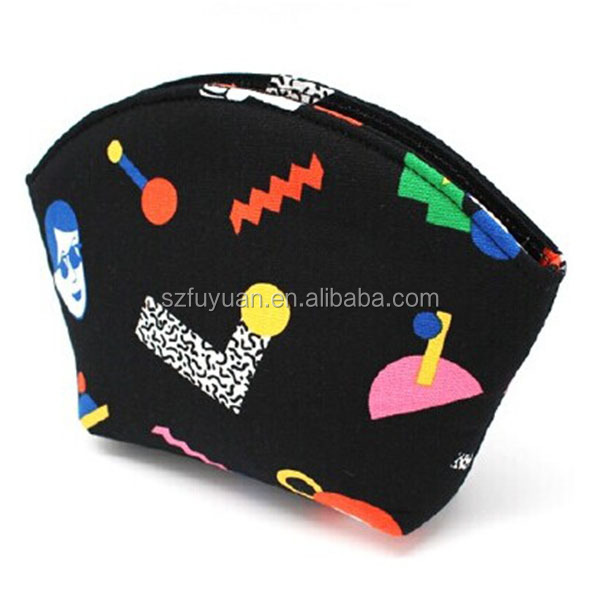 wholesale new design cotton canvas cosmetic bag for <strong>travel</strong>