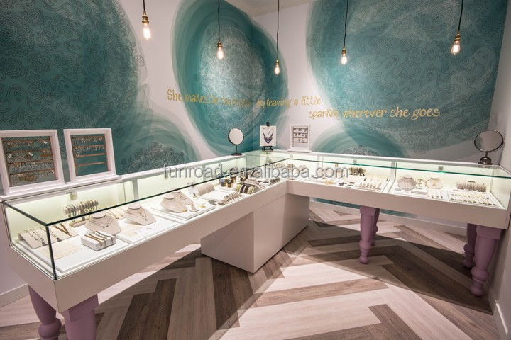 Vairous Design Glass Jewelry Display Table For Jewelry Store