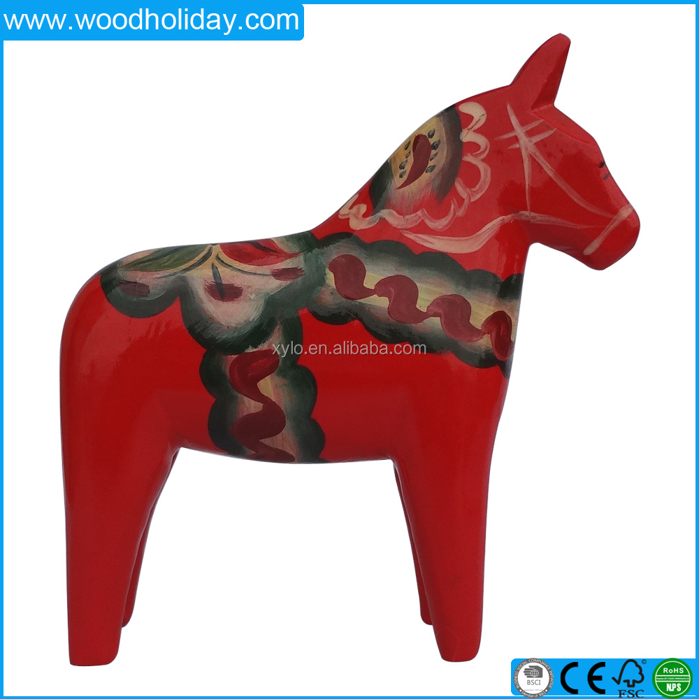 Colorful Wooden Decoration Driftwood Horse Sculptures Sale