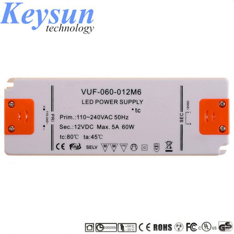 Mini Type 12V 4A ultrathin constant voltage LED driver with UL CE SAA EMC LVD certificate for cabinet lights