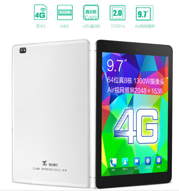 "New 9.7"" Cube T9 Android Tablet PC 2048x1536 Octa Core 13.0MP Camera 2GB RAM 32GB ROM OTG Play Store 4G LTE Phone Call"