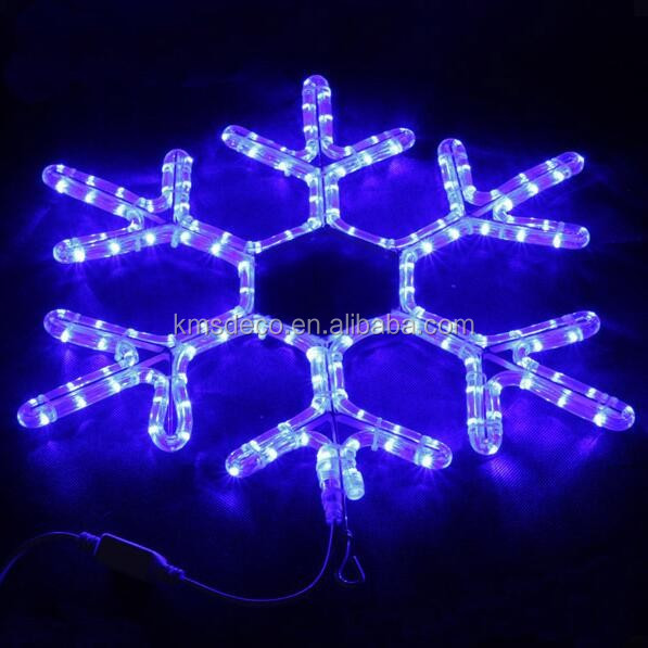 56L LED SNOWFLAKE MOTIF ROPE LIGHT WARM WHITE