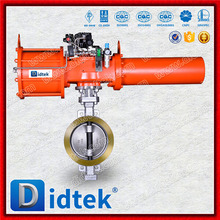 Didtek Pneumatic Wafer Type Butterfly Valve With Actuator