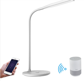 Amazon Alexa google home control smart wifi LED reading lamp wireless charger desktop lamp with USB