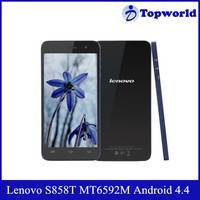 Hot Selling Android 4.4 MT6592M Octa Core 1.4GHz Single Sim Card RAM 1GB ROM 8GB Support 3G Lenovo S858t Mobile Phone