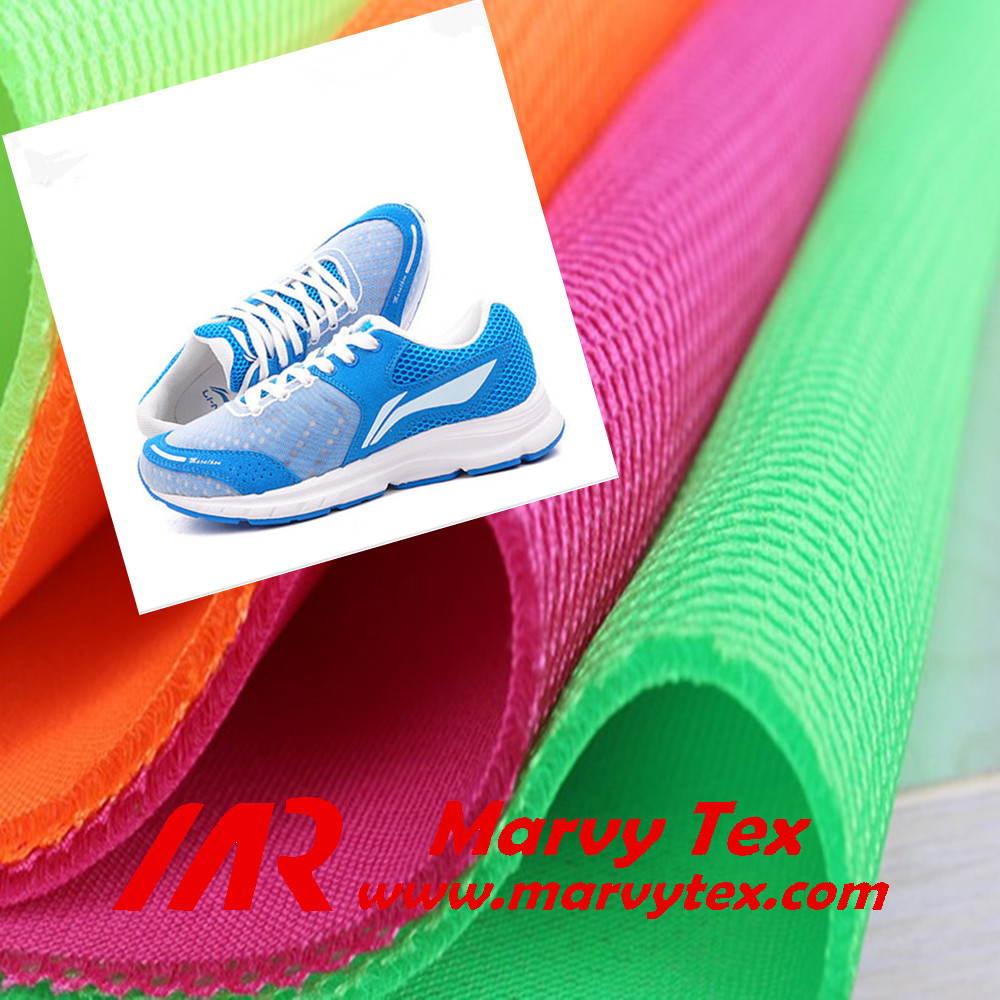 polyester tricot warp knitted breathable 3d spacer air mesh fabric for sports shoes