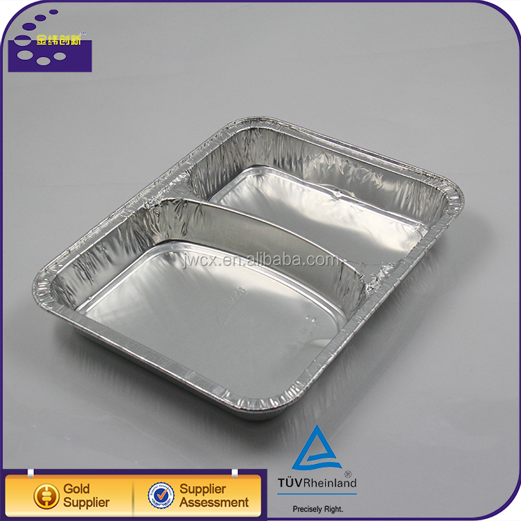 Take away foil lunch box / aluminum foil trays with lid
