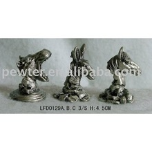 pewter horse,metal animals,promotional gifts