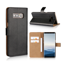 Real Genuine Wallet Leather PC Hard Back Cover Phone Case For Samsung Galaxy Note 8 7 5 4 3 2