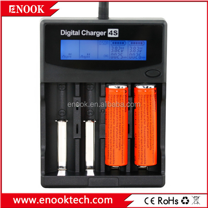 2015 wholesale price enook 4S digital charger Tlifepo4 batteries 4S li-ion battery charger