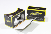 Customized color printing virtual reality goggles cardboard vr 3d glasses