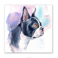 Bulldog Watercolor Painting Doggy Canvas Prints Funny Home Decor Kid Room Decoration Framed Ready to Hang on Your Wall