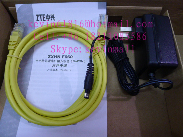 ZTE GPON terminal ZXA10 F660 FTTO or FTTH ONT With 4 ethernet ports and 2 voice ports,wireless access point 802.11n 300Mbps