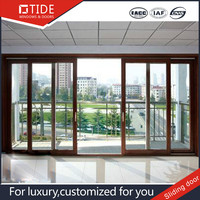 Can internal electrical blinds,wood and aluminum doors sliding TIDE TMQ160