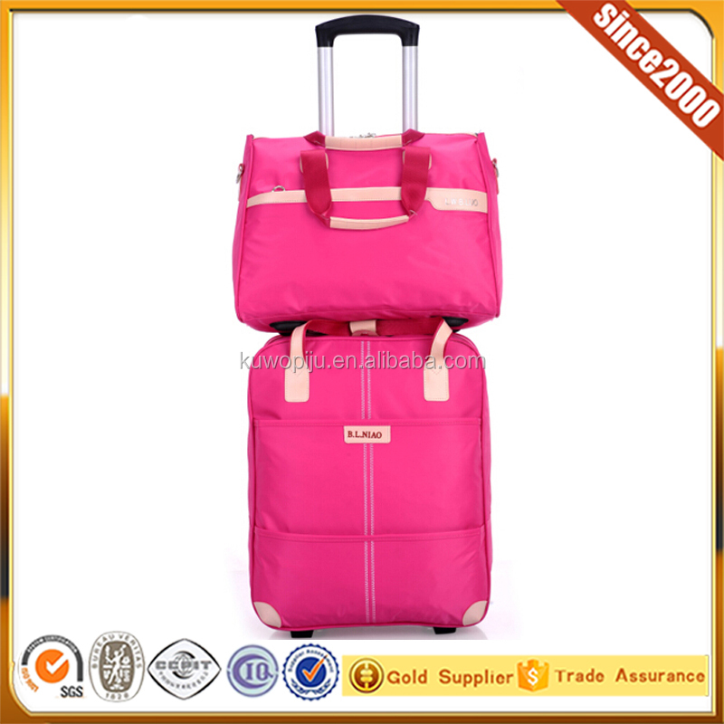 colourful travel trolley fancy soft luggage laptop bag