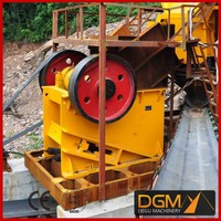 High speed portable diesel jaw crusher for low price