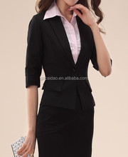 High Quality Designer Ladies Slim Fit Black Office Skirt Suits