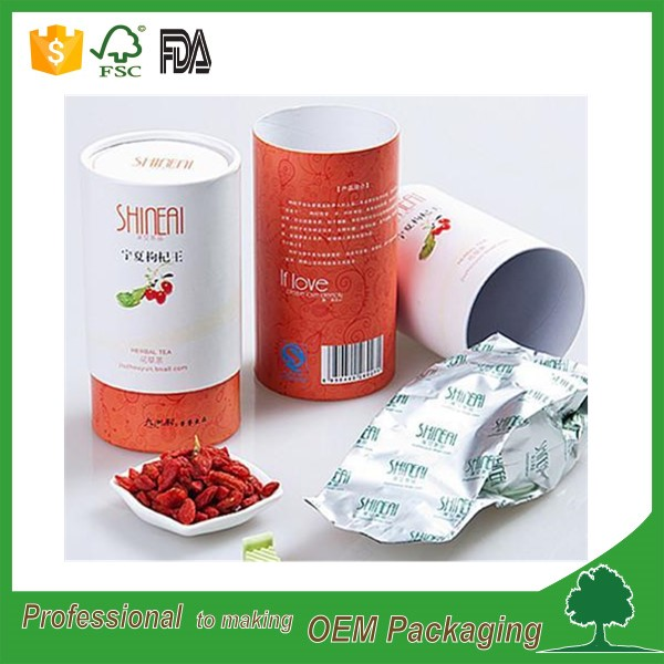 sweets packaging round box food grade paper tube for coffee powder waterproof candy packaging tube cardboard CMYK printing logo