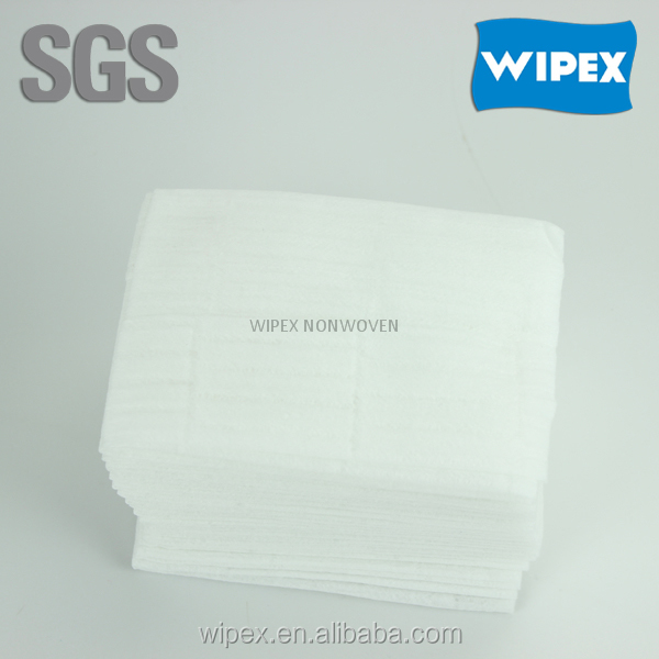 2015 hot sell spunlace non-woven hospital dry wipe for body cleaning