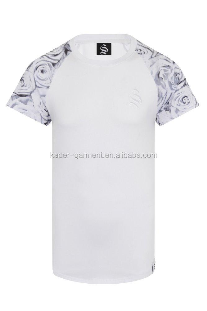 mens printed t shirts 94 cotton 6 spandex t shirts for gym