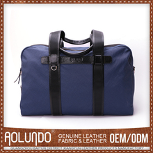 Promotional canvas and leather weekend bags canvas travel bag / foldable travel bag / duffle bag