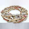 Driftwood Decorative christmas wreath wooden christmas wreath christmas wreaths cheap wholesale