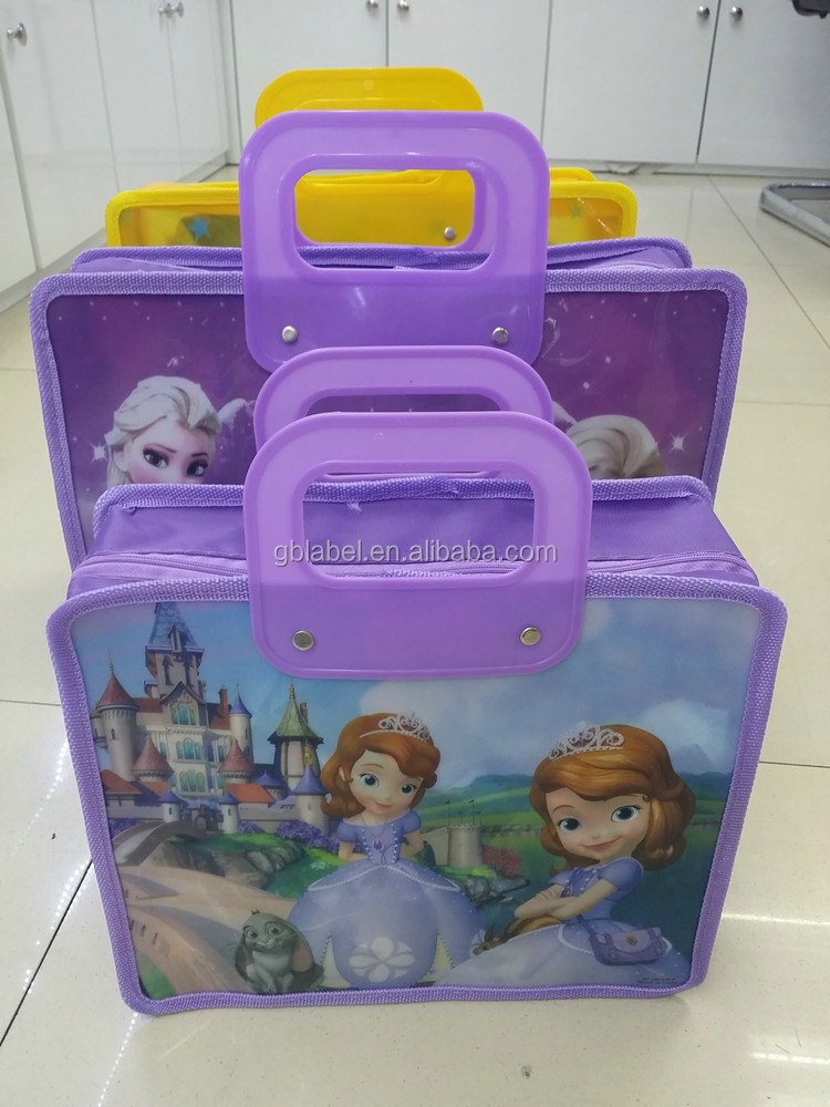 custom wholesale stock pvc handle child school bag