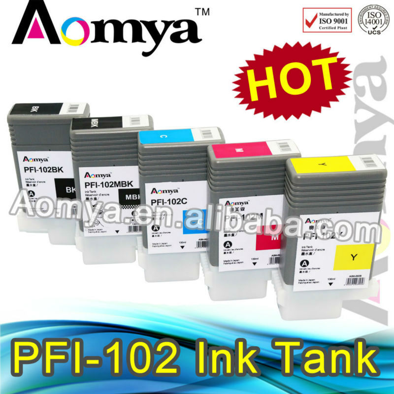 Best Quality For Canon PFI-102 wide format Pigment printer ink cartridge tank