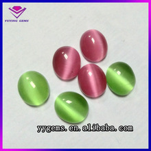 Color Change Glass Gems Price Cheap Oval Ball Cabochon Beads Cat Eye Gem Stone Hot Selling