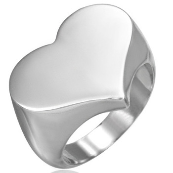 High quality Blank Engravable Memorial Urn jewelry finger ring Heart Stainless Steel Keepsake cremation ring ZZR110
