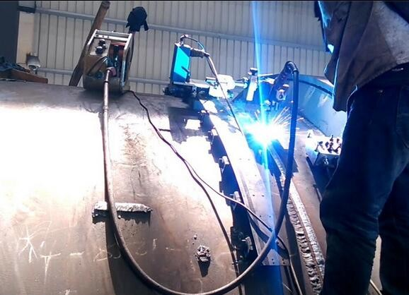 Double Side Fillet Auto welding carriage welding machine welder for SS or carbon steel pipe boiler plate flange