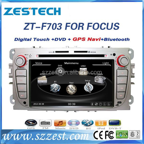 Dashboard placement and 7'' double din Car radio for Ford focus radio gps navigation oem 2009-2011 ZT-F702