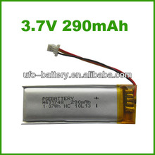 3.7v 290mAh lithium ion battery,lithium battery,lithium ion car battery with CE RoHs for USA