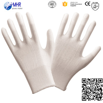 safety glove of 2016!!! 13g polyester anti static ESD gloves with cut resistant PU working gloves!