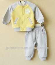 Hot Sale 2013 mom and bab cute embroidery baby hoodies +pants,100% cotton baby cloting set in stock