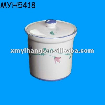 Decorative ceramic porcelain sugar canister